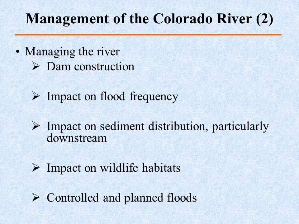 Management of the Colorado River (2)