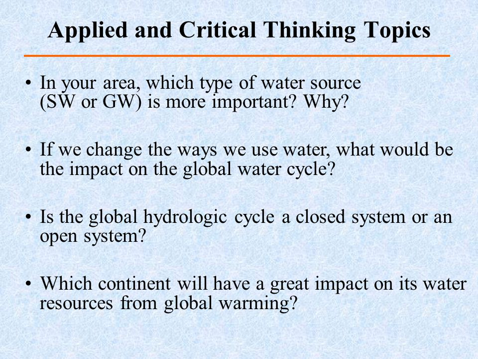 critical thinking essay questions