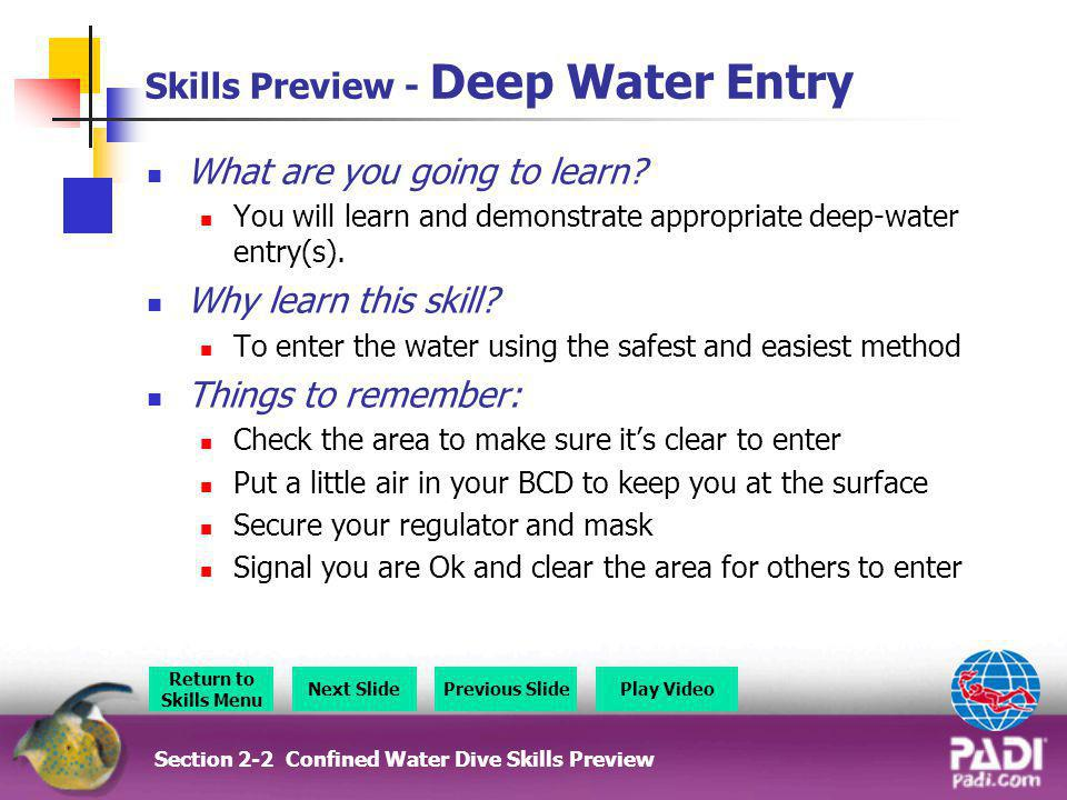 Skills Preview - Deep Water Entry