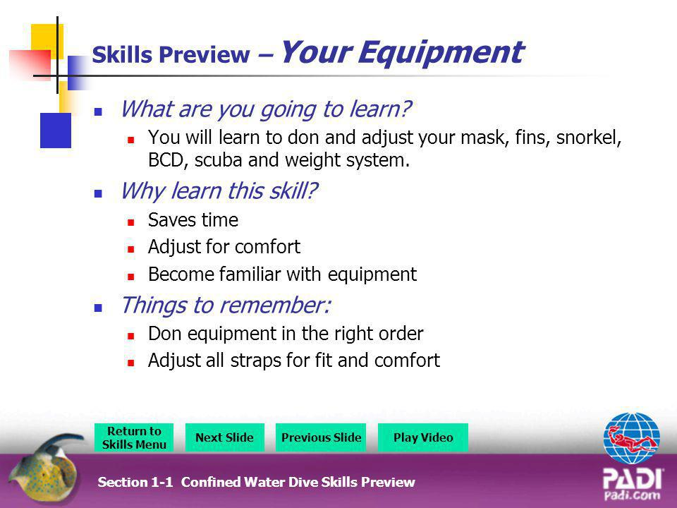 Skills Preview – Your Equipment