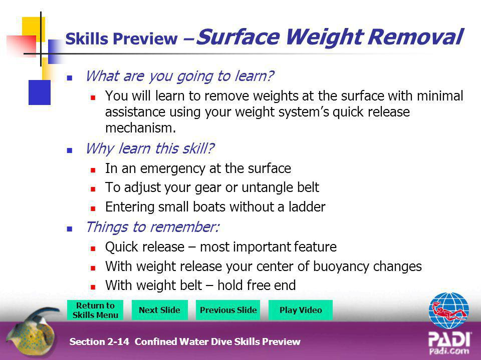 Skills Preview – Surface Weight Removal