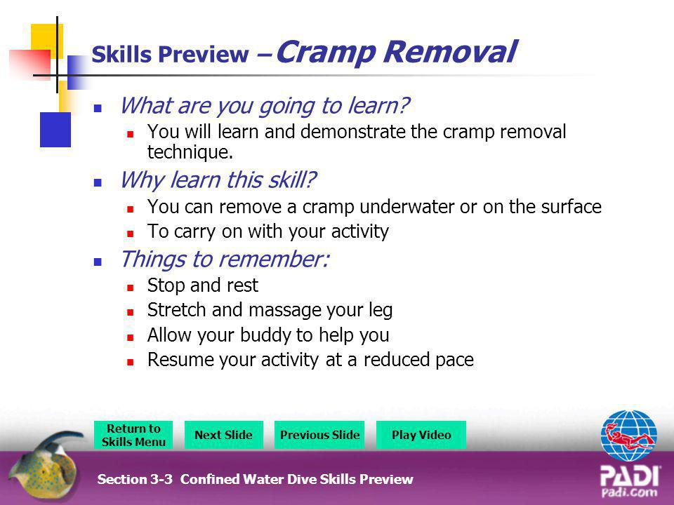 Skills Preview – Cramp Removal