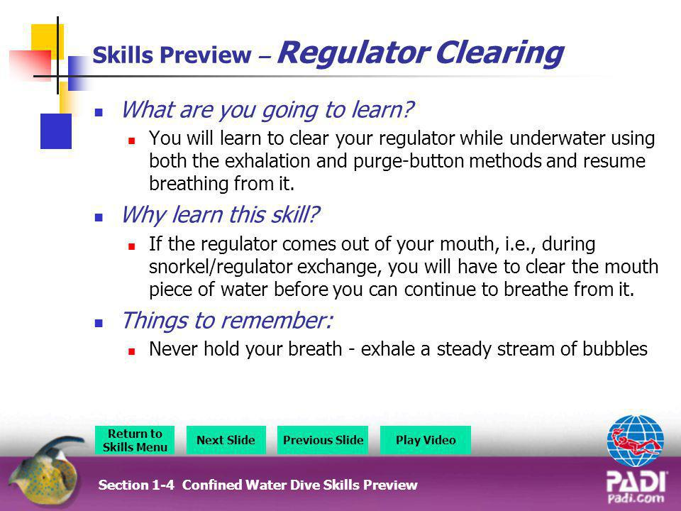 Skills Preview – Regulator Clearing