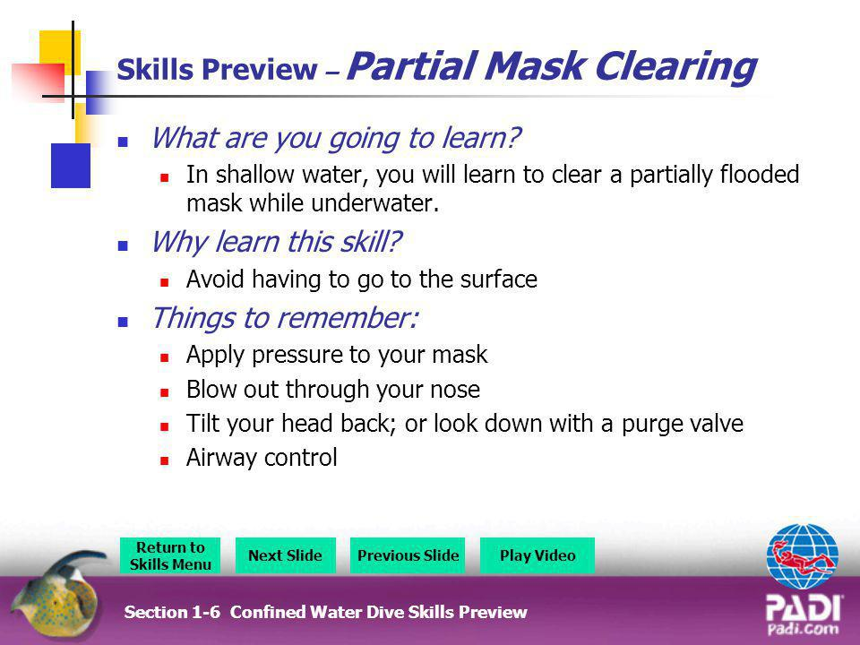 Skills Preview – Partial Mask Clearing