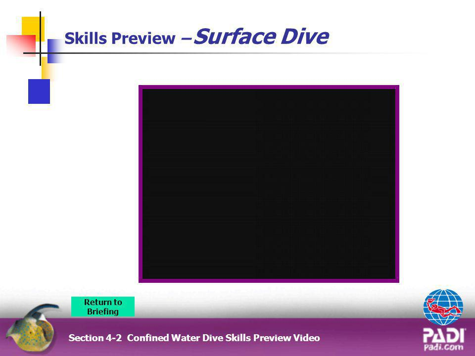 Skills Preview – Surface Dive