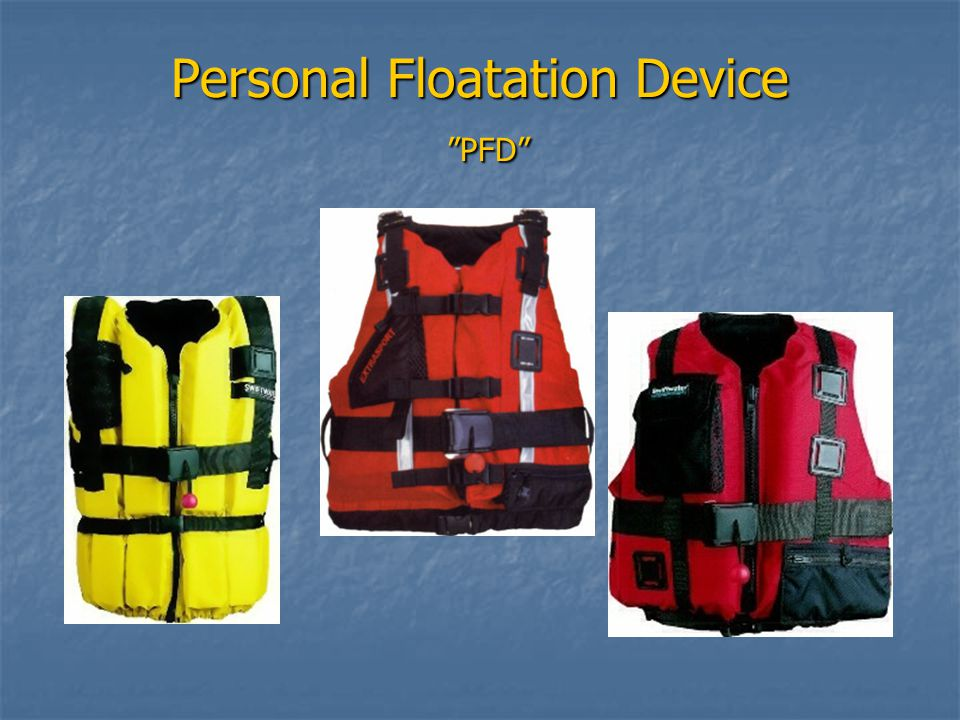 Personal Floatation Device PFD