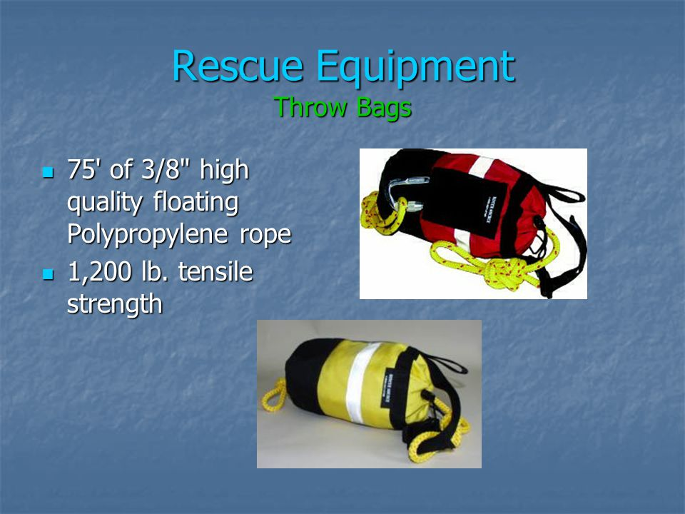 Rescue Equipment Throw Bags