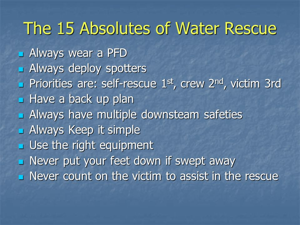 The 15 Absolutes of Water Rescue