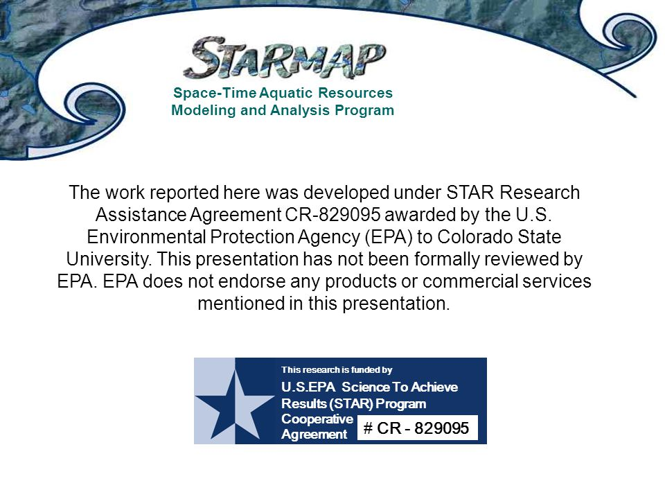 Space-Time Aquatic Resources Modeling and Analysis Program