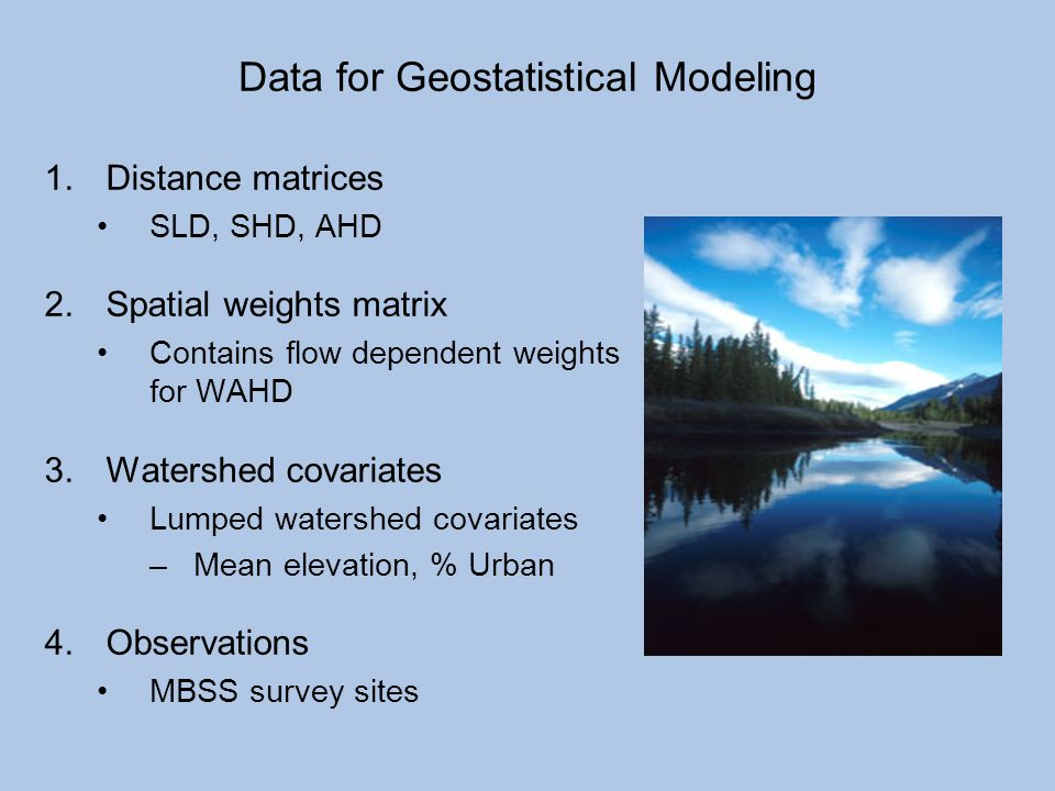 Data for Geostatistical Modeling