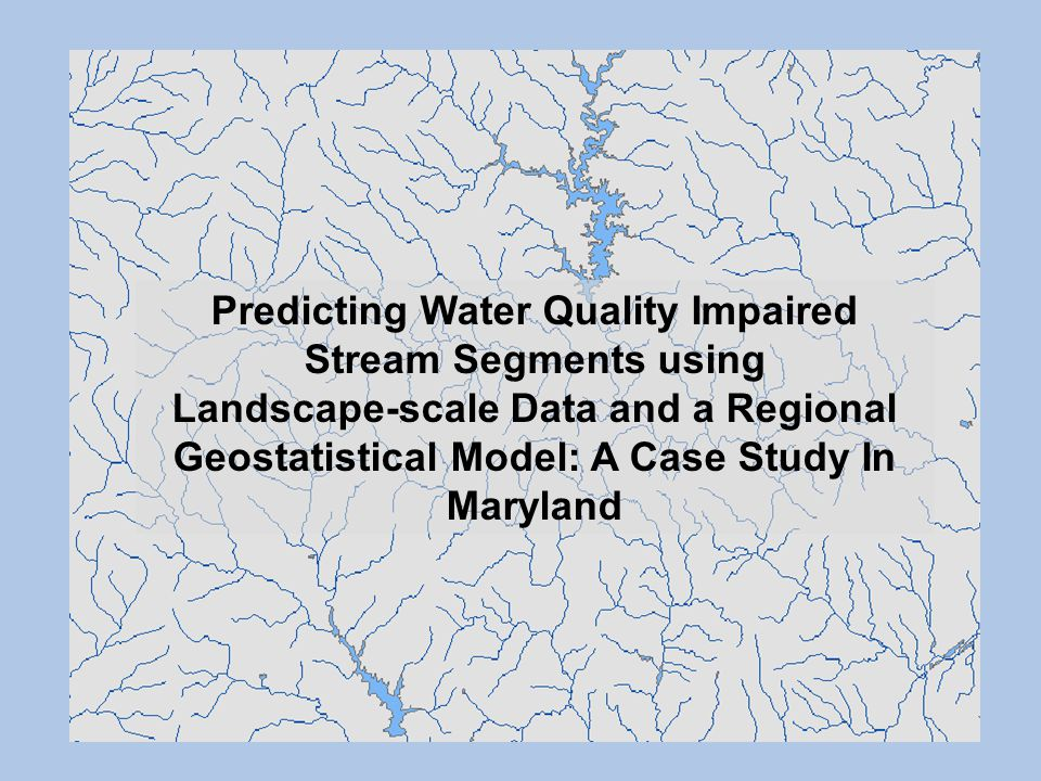 Predicting Water Quality Impaired Stream Segments using