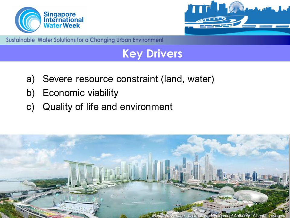 Key Drivers Severe resource constraint (land, water)