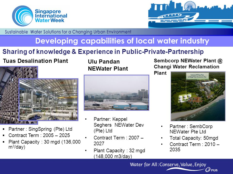 Developing capabilities of local water industry