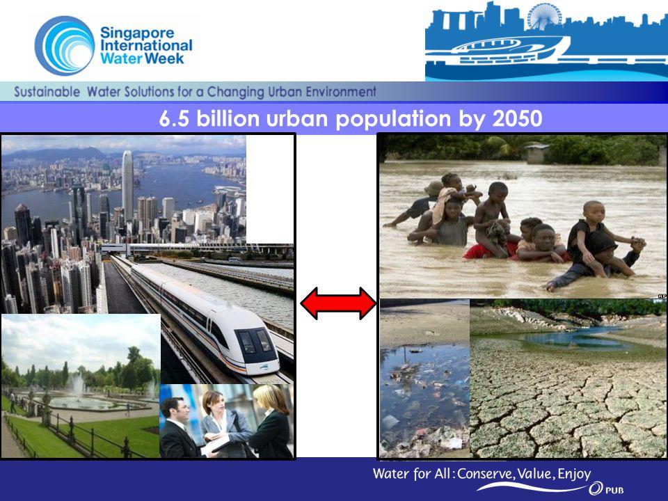6.5 billion urban population by 2050