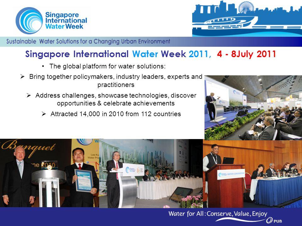 Singapore International Water Week 2011, 4 - 8July 2011