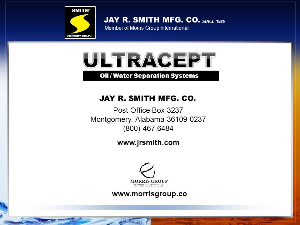 Oil / Water Separation Systems