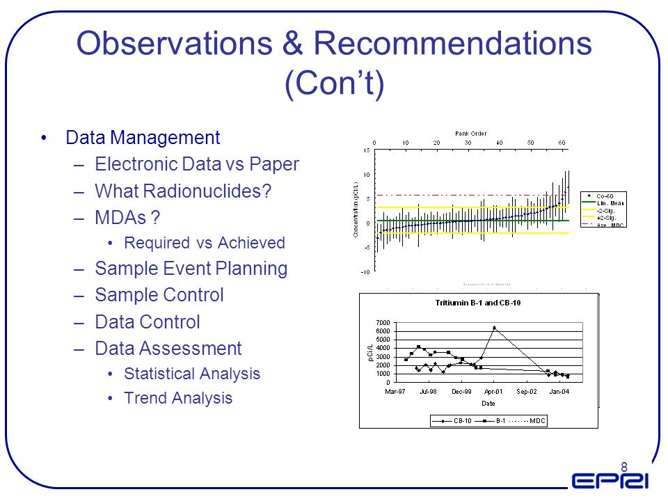 Observations & Recommendations (Con't)