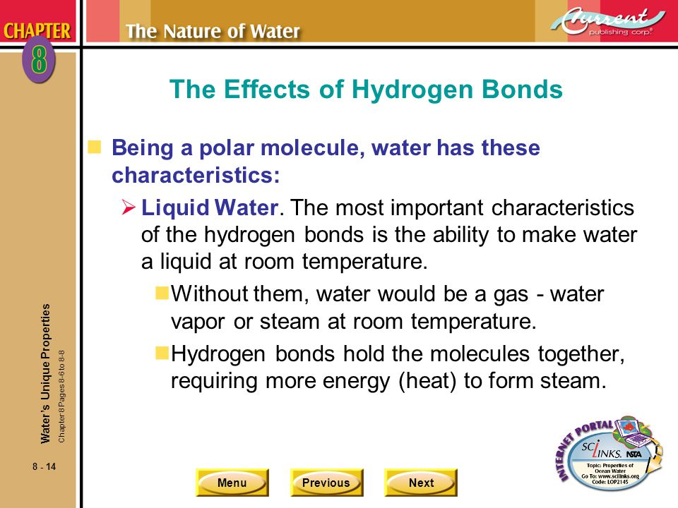 The Effects of Hydrogen Bonds