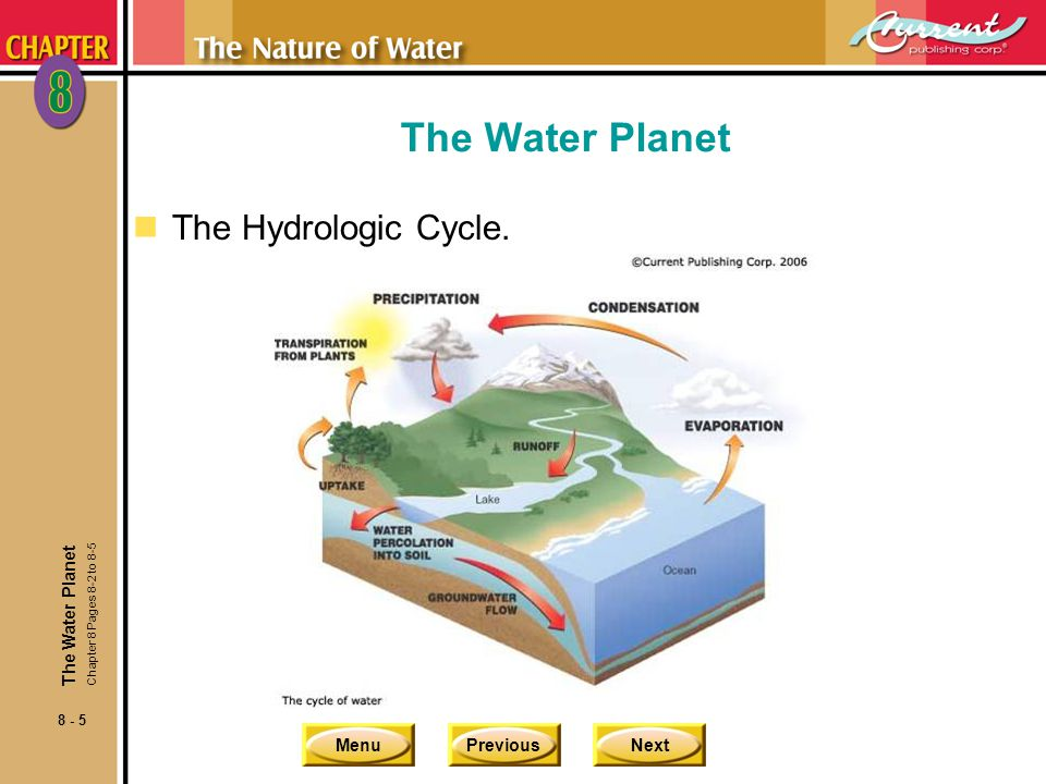 The Water Planet The Hydrologic Cycle. The Water Planet