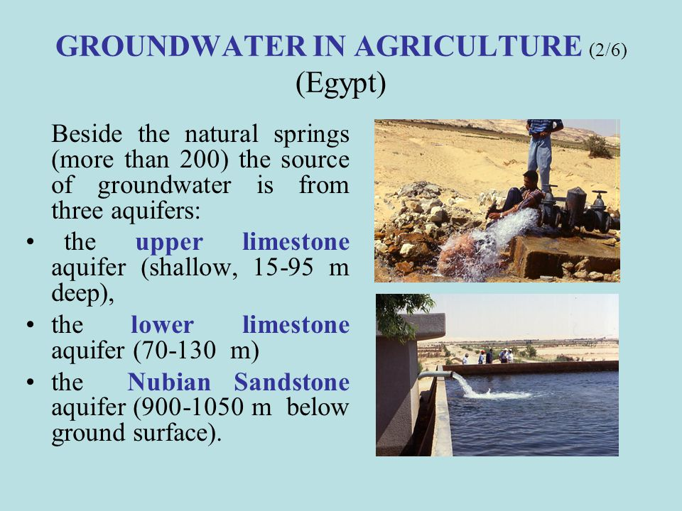 GROUNDWATER IN AGRICULTURE (2/6) (Egypt)