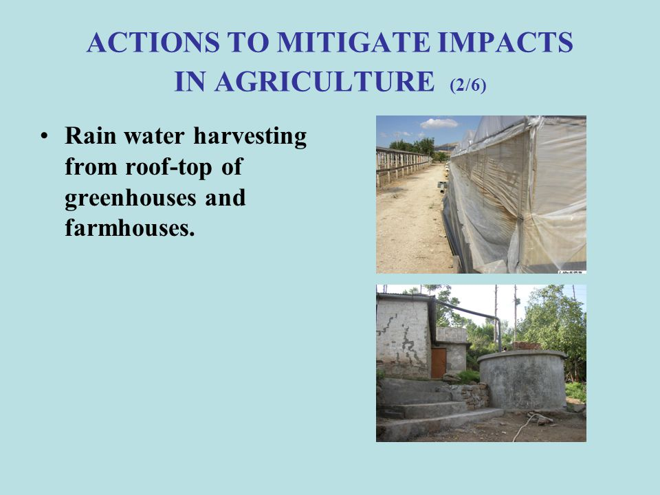 ACTIONS TO MITIGATE IMPACTS IN AGRICULTURE (2/6)
