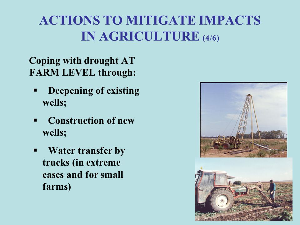 ACTIONS TO MITIGATE IMPACTS IN AGRICULTURE (4/6)