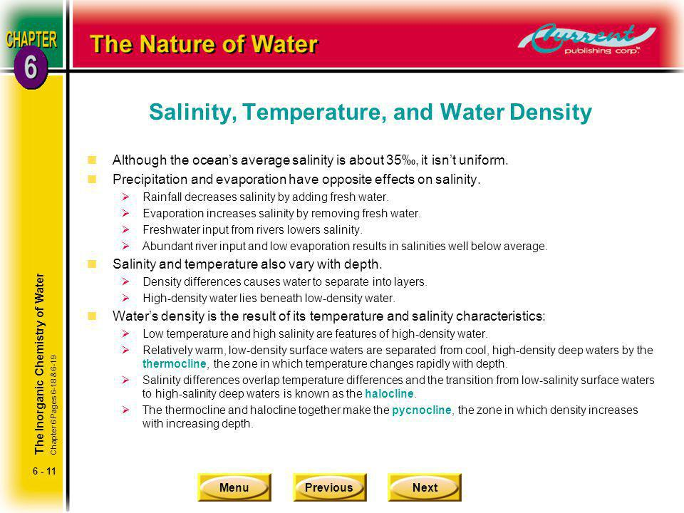 Salinity, Temperature, and Water Density