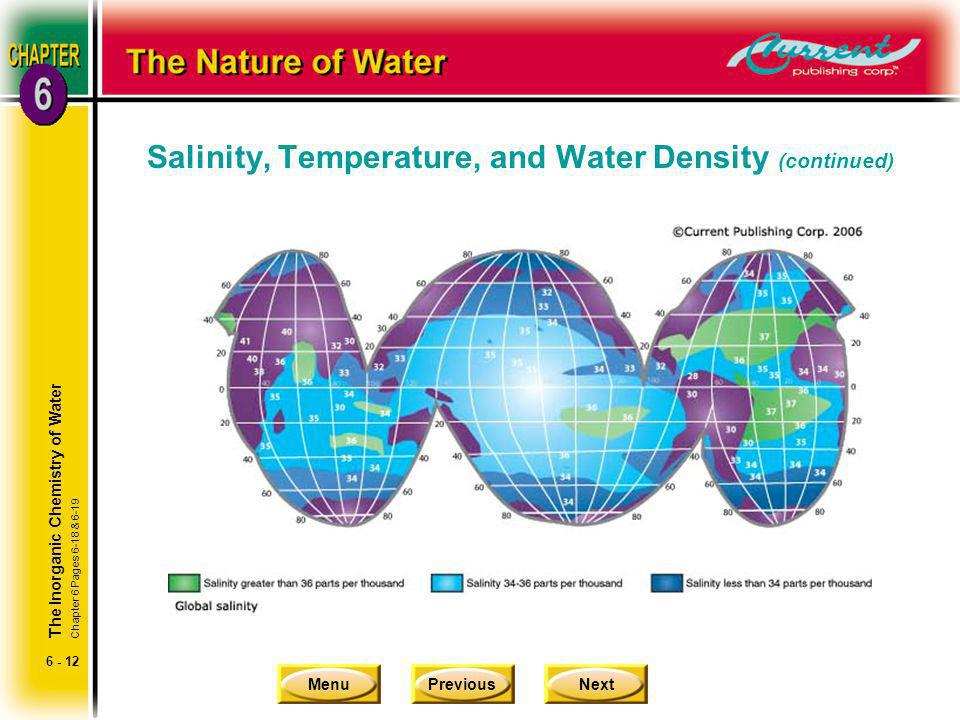 Salinity, Temperature, and Water Density (continued)