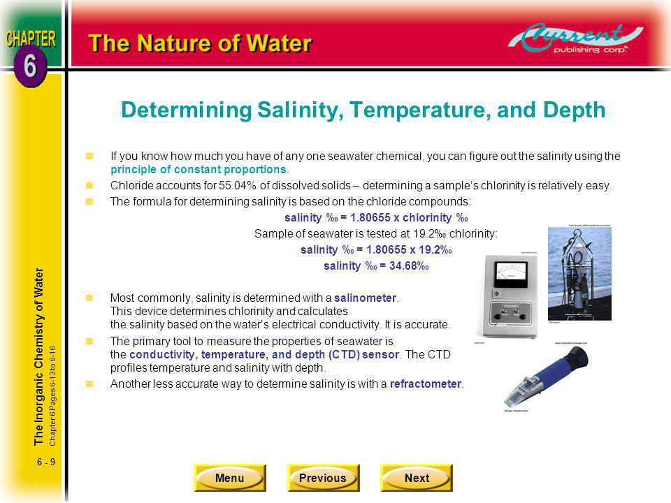 Determining Salinity, Temperature, and Depth