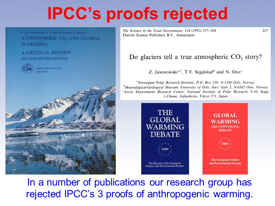 IPCC's proofs rejected