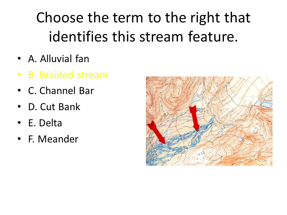 Choose the term to the right that identifies this stream feature.