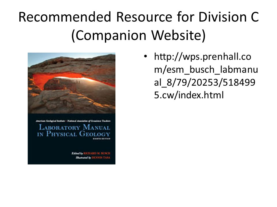 Recommended Resource for Division C (Companion Website)