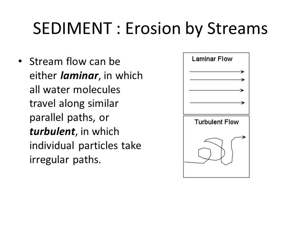 SEDIMENT : Erosion by Streams