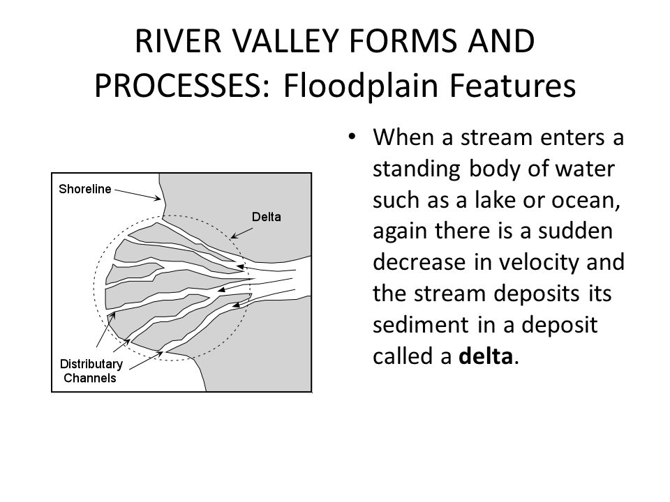 RIVER VALLEY FORMS AND PROCESSES: Floodplain Features
