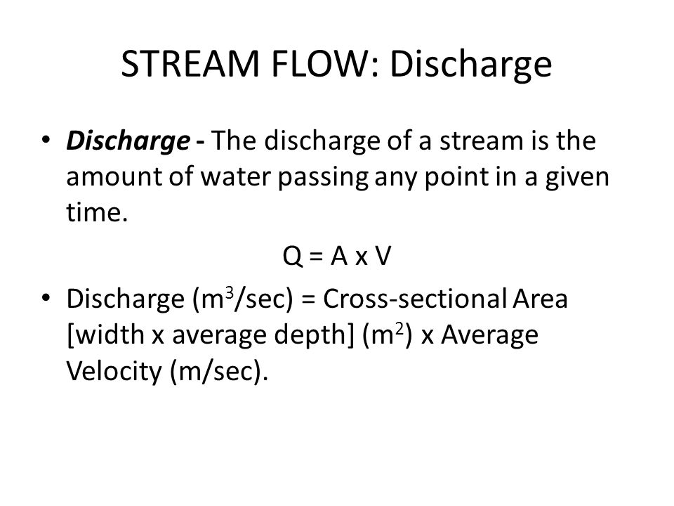 STREAM FLOW: Discharge