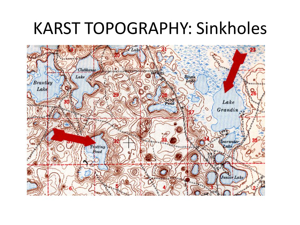 KARST TOPOGRAPHY: Sinkholes