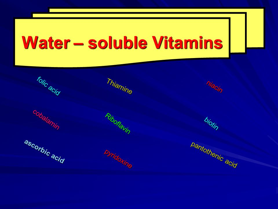 Water – soluble Vitamins