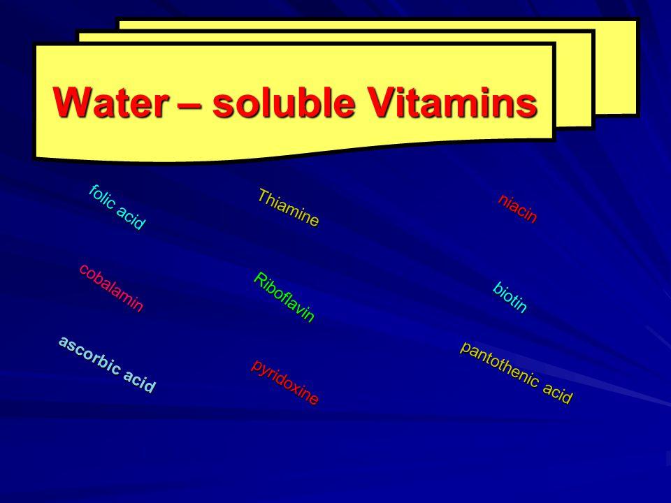 Water – soluble Vitamins