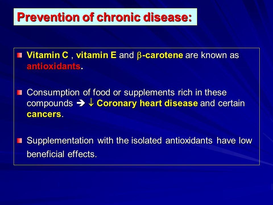Prevention of chronic disease: