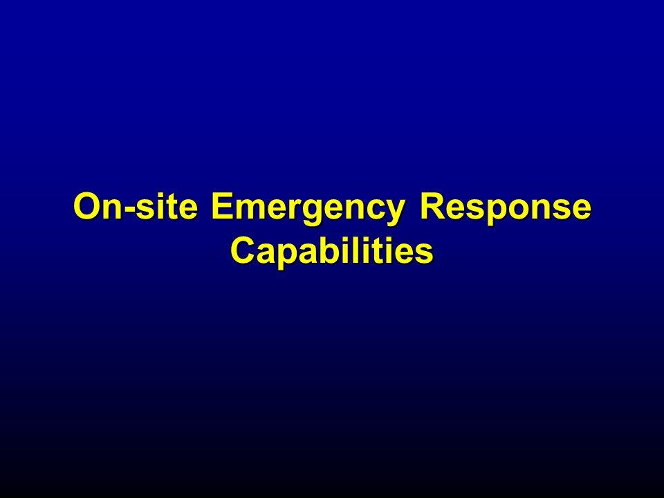 On-site Emergency Response Capabilities