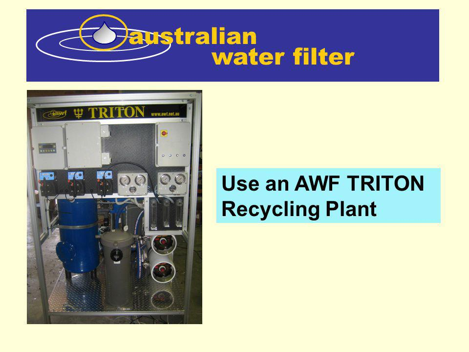water filter australian Use an AWF TRITON Recycling Plant