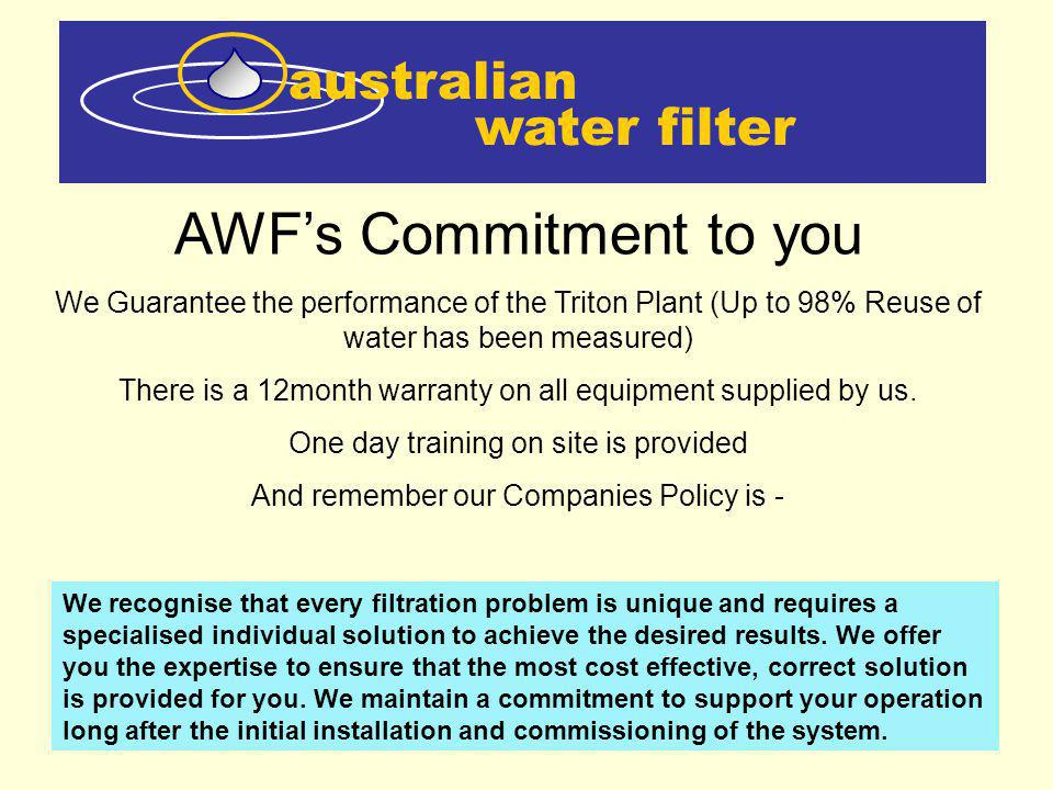 AWF's Commitment to you