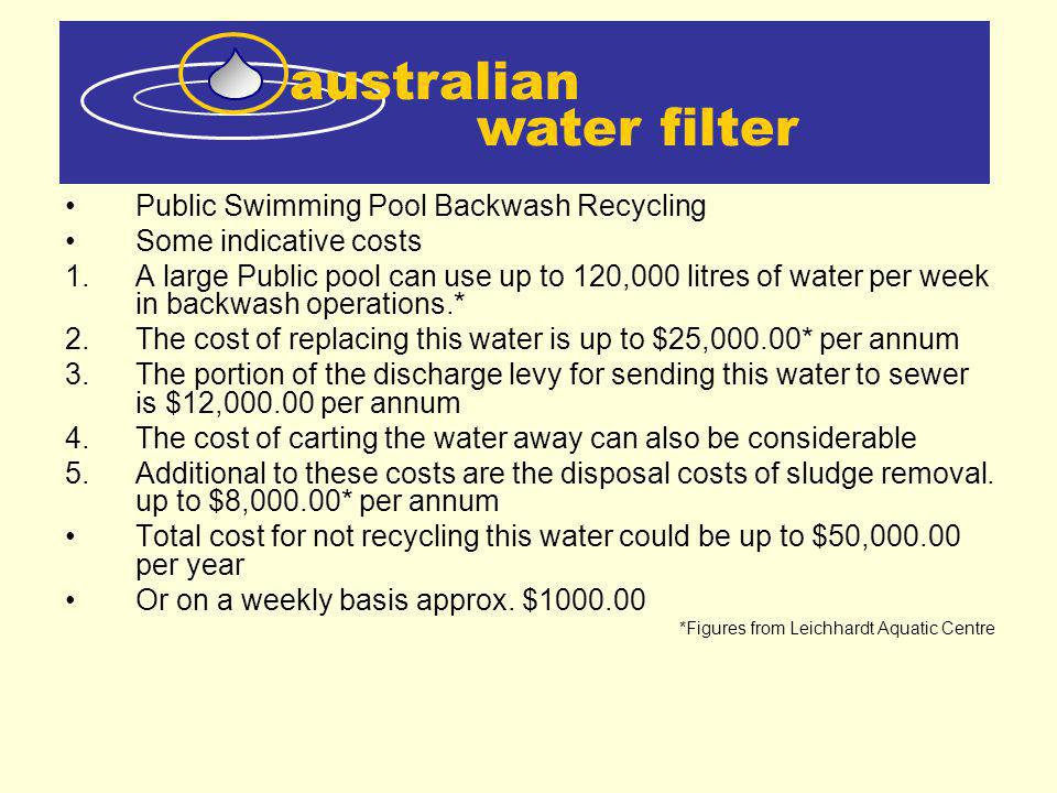 australian water filter Public Swimming Pool Backwash Recycling