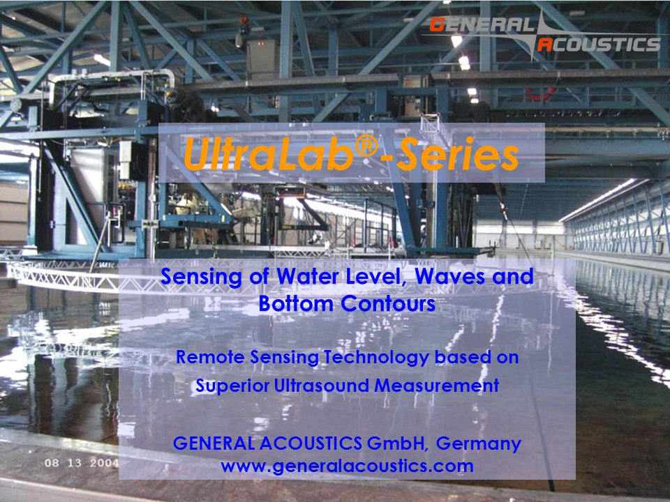 UltraLab®-Series Sensing of Water Level, Waves and Bottom Contours