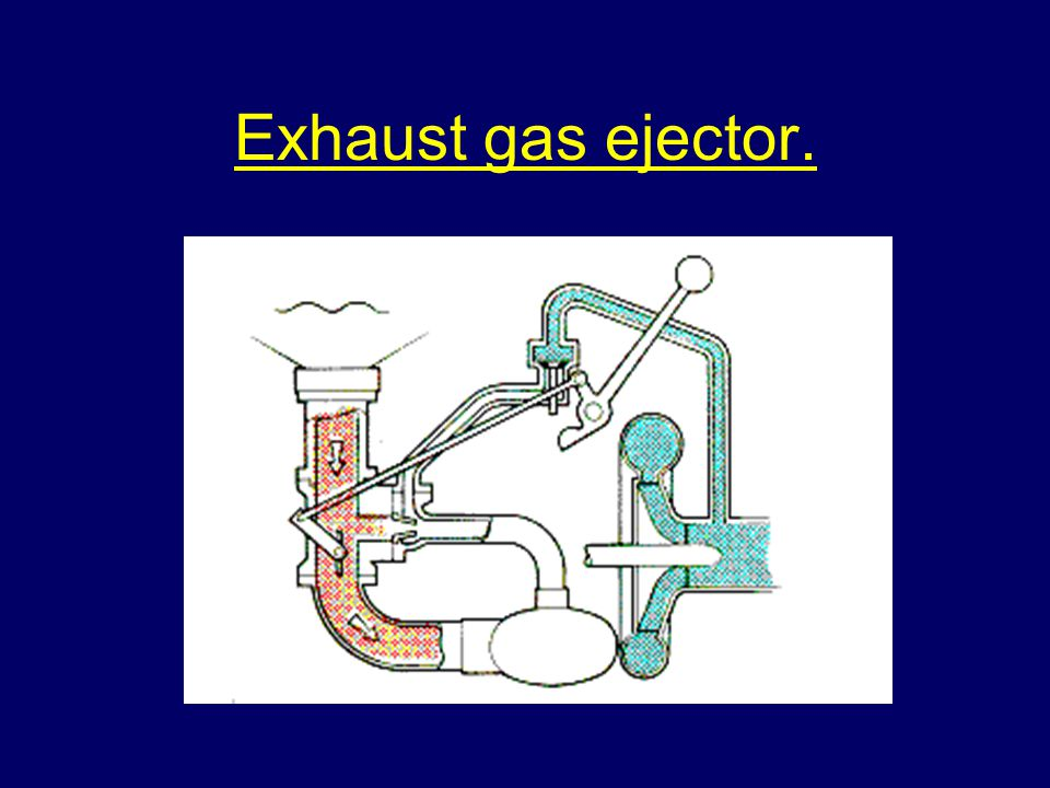 Exhaust gas ejector.