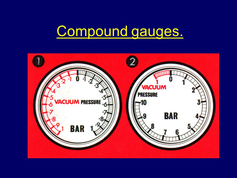Compound gauges.