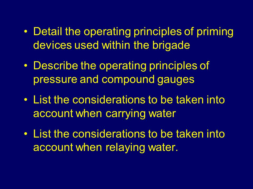 Detail the operating principles of priming devices used within the brigade