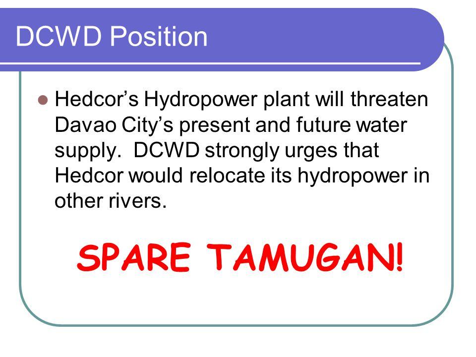 SPARE TAMUGAN! DCWD Position