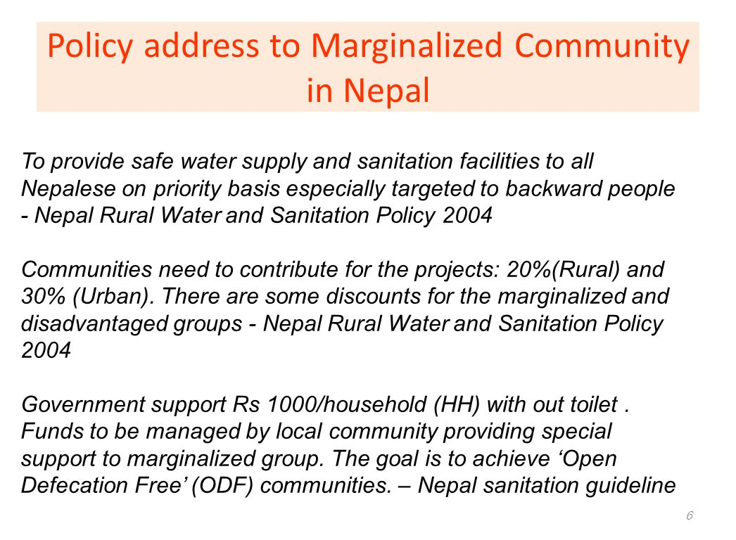 Policy address to Marginalized Community in Nepal