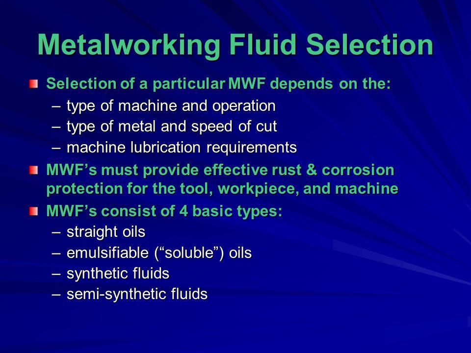 Metalworking Fluid Selection